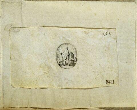 Hercule, dessin pour une pierre gravée ou pour un cachet