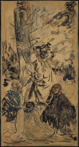 Le martyre de saint Sébastien (volet gauche)