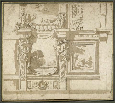 Projet de décor pour la galerie à volières du château de Wideville