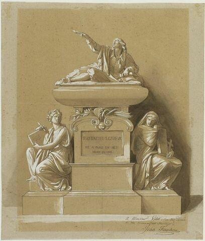 Projet de monument au peintre Eustache Le Sueur