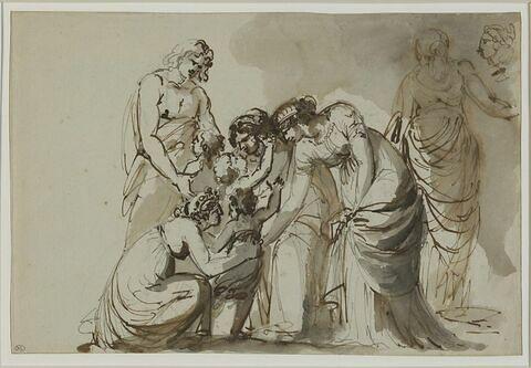 Scène de famille à l'antique