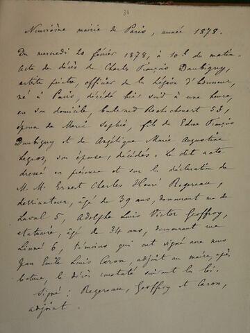 Copie manuscrite de documents d'Etat Civil
