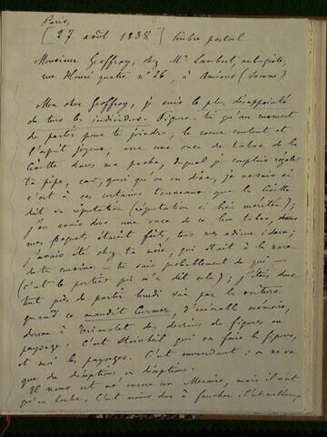 (27 août 1838), Paris, à Geoffroy Dechaume