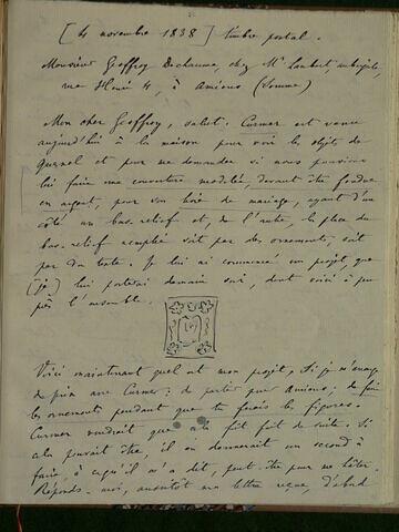 4 novembre 1838, sans lieu, à Geoffroy Dechaume