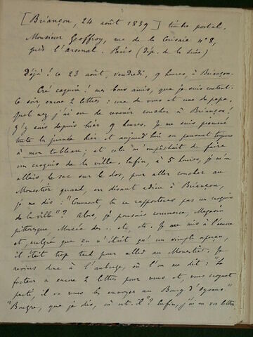 24 août 1839, Briançon, à Geoffroy Dechaume