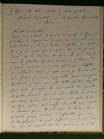 (24 décembre 1839), Lyon, à Trimolet