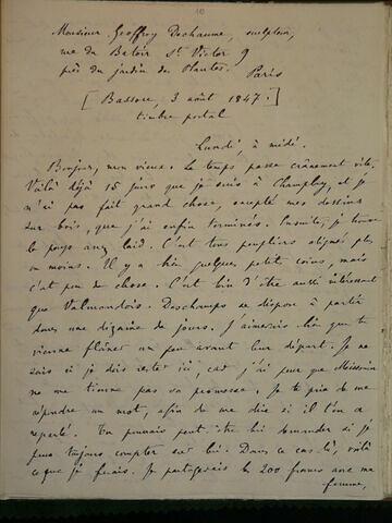 3 août 1847, Bassou, à Geoffroy Dechaume