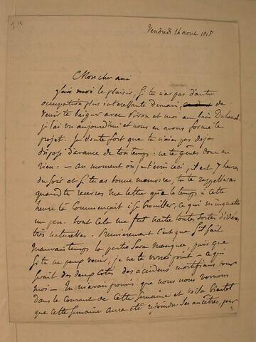 16 août 1818, sans lieu, à J.B. Pierret
