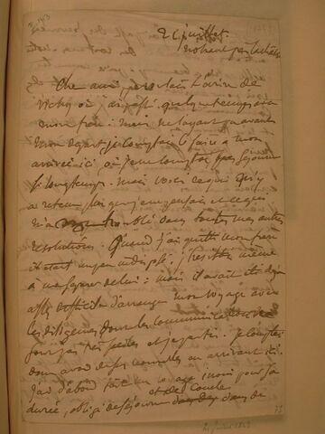21 juillet (1843), Nohant, à J.B. Pierret