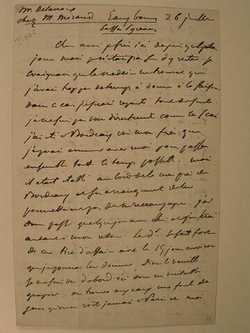 26 juillet (1845), Eaux-Bonnes, à J.B. Pierret