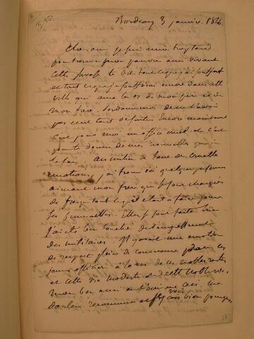 3 janvier 1846, Bordeaux, à J.B. Pierret