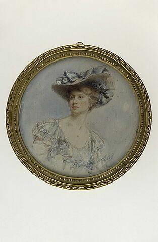 Portrait de femme au grand chapeau : Gabrielle