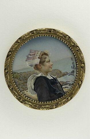 Portrait d'une jeune Bretonne