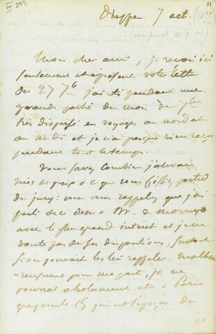7 octobre, sans année, Dieppe, à Adolphe Moreau