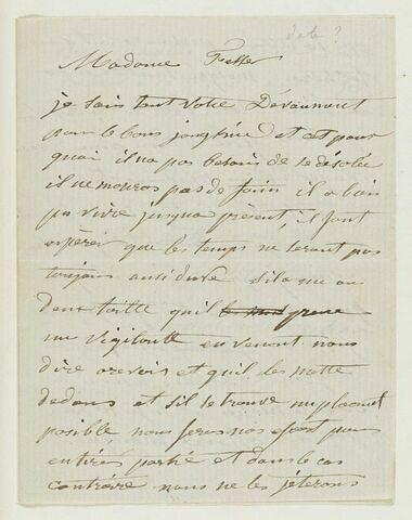 10 octobre 1860, Paris, à Mme Fesser