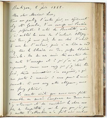 2 juin 1862, Barbizon, à Siméon Luce