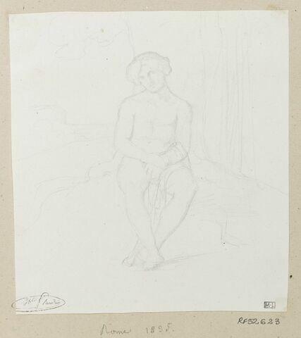 Jeune homme assis, de face, étude pour le tableau Jeune berger assis