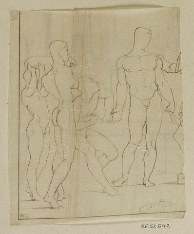 Etudes de nu pour le tableau Thésée reconnu par son père