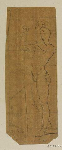 Etude de nu pour le tableau Thésée reconnu par son père