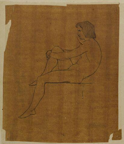 Etude de jeune homme assis, de profil, Polytès