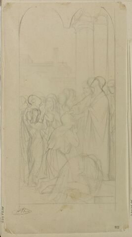 Etude d'ensemble pour le tableau Saint Clair guérissant les aveugles