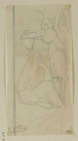 Deux femmes au puits, étude pour le tableau Jésus et les petits enfants
