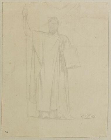Etude d'homme drapé pour le tableau Napoléon Ier législateur