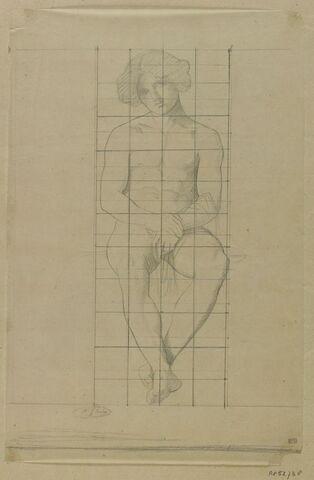Jeune homme assis de face, étude pour le tableau Jeune berger assis