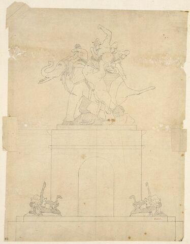 Etude pour la chasse au tigre du surtout de table du duc d'Orléans