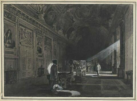 La Galerie d'Apollon la nuit