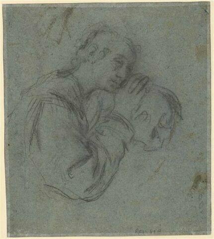 Variante pour la Marie Madeleine appuyée sur un crâne du recto