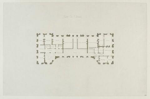 Relevés d'architecture et de décor du château de Bercy