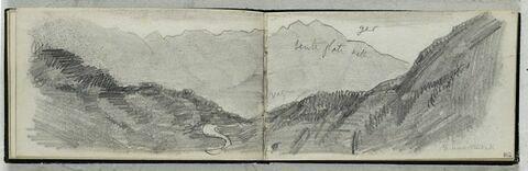 Panorama de montagne : massif du Ger