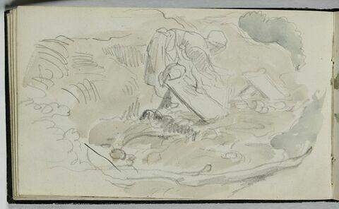 Lavandière au bord du torrent