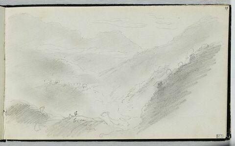 Esquisse d'un paysage de montagne