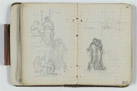 Deux études de compositions avec figures