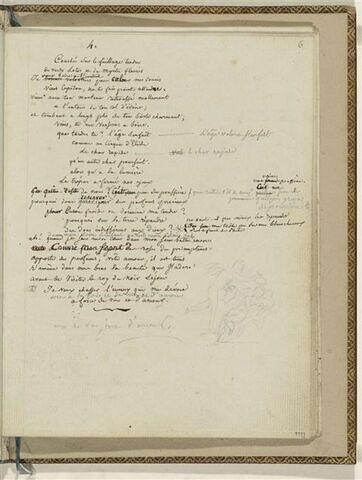 Traduction en français de l'Ode 4 d'Anacréon et 1 dessin