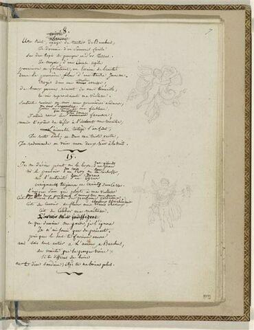 Traduction en français des Odes 8 et 15 d'Anacréon et 2 dessins