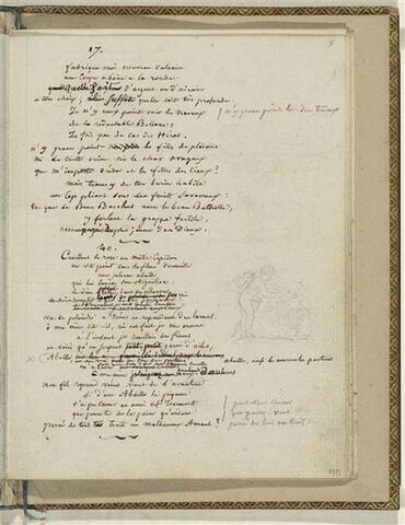 Traduction en français des Odes 17 et 40 d'Anacréon et 2 dessins
