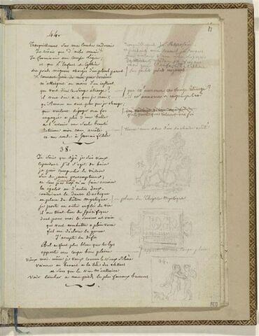 Traduction en français des Odes 44 et 38 d'Anacréon et 3 dessins