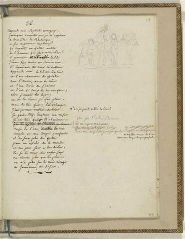 Traduction en français de l'Ode 36 d'Anadréon et 1 dessin