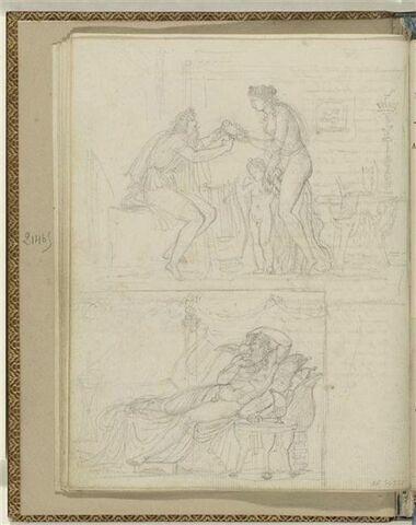 Deux illustrations pour les Odes 9 et 12 d'Anacréon