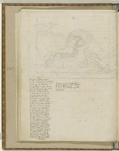 Traduction en français de l'Ode 35 d'Anacréon et 1 dessin