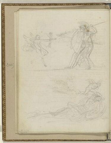 Deux illustrations pour les Odes 54 et 14 d'Anacréon