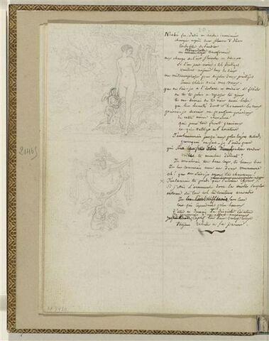 Traduction en français de l'Ode 20 d'Ancréon et 2 dessins