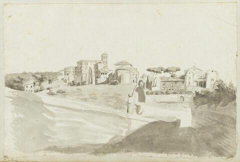 Vue de Rome avec l'église Santi Giovanni e Paolo