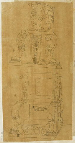Deux trônes sur deux registres