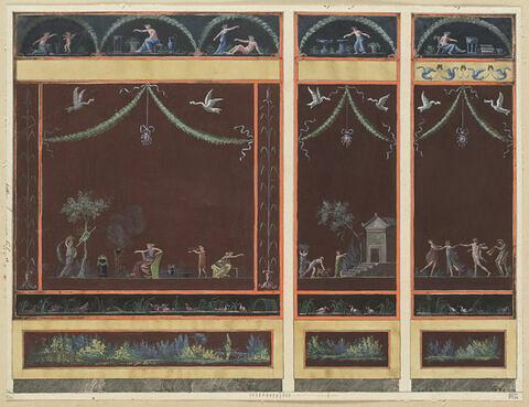 Projet de décor de boiserie avec trois panneaux