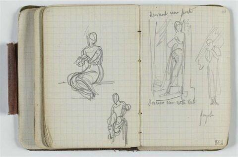 Deux études : femme assise et femme debout