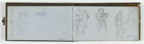 Etudes de femme avec enfants ; annotations manuscrites
